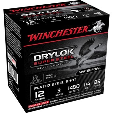 "Winchester DryLok Super Steel HV 12ga 3"" BB-Shot"