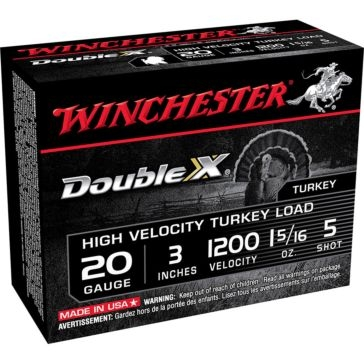 "Winchester Double X High Velocity Turkey Load - 20 Gauge 3""  5-Shot"