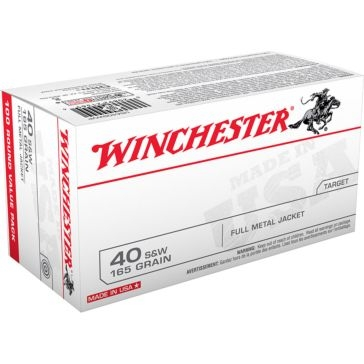 Winchester USA 40 S&W 165 GR FMJ 100RD
