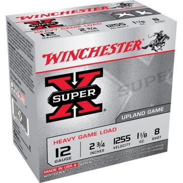 "Winchester Super-X Heavy Game Load 12ga 2-3/4"" 8-Shot"