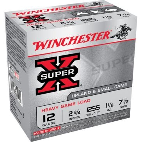 "Winchester Super-X Heavy Game Load 12ga 2-3/4"" 7-1/2-Shot"