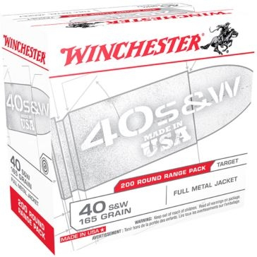 Winchester USA 40 Smith & Wesson 165 GR FMJ 200RD