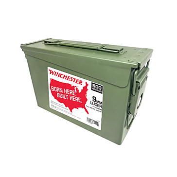 Winchester 9mm Luger 115gr FMJ 500rd Ammo Can WW9C