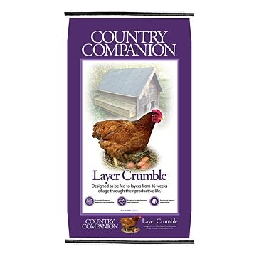Country Companion 16% Layer Crumbles Poultry Feed 50lb Bag