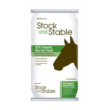 Nutrena Stock and Stable 12% Sweet Horse Feed 50lb
