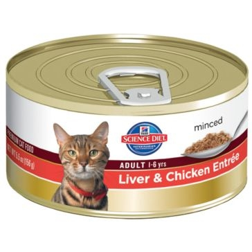Hill's Science Diet Adult Canned Cat Food - Liver & Chicken Entrée 5oz