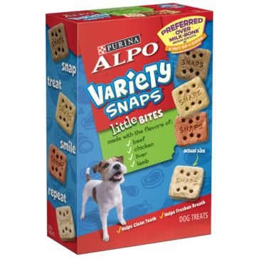 Purina Alpo Little Bites Variety Snaps Dog Treats 32oz