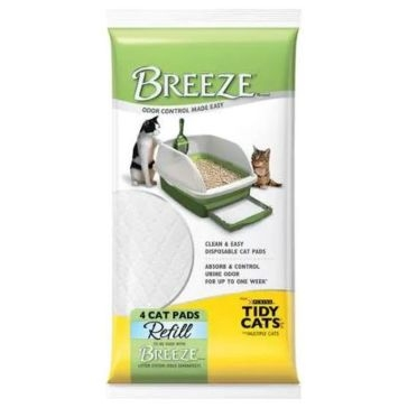Breeze Cat Litter Pads Refill 4-pack