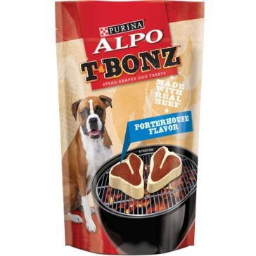 Purina Alpo T-bonz Porterhouse Steak Shaped Dog Treats 45oz