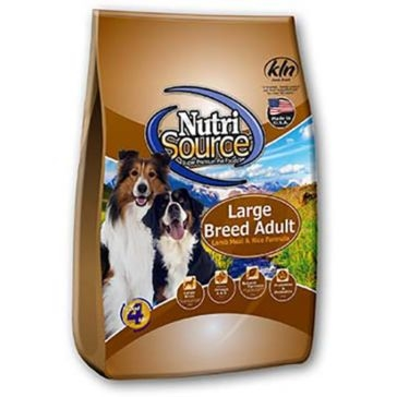 NutriSource Large Breed Adult Lamb Meal & Rice Formula Dry Dog Food 33lb