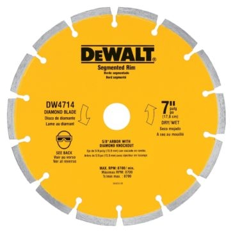 "Dewalt 7"" XP segmented diamond blade DW4714"
