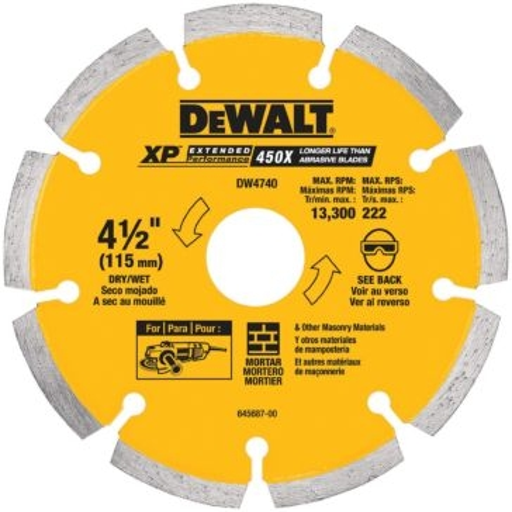 "Dewalt 4-1/2"" x .250 XP tuck point blade DW4740"
