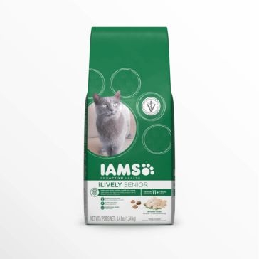 IAMS ProActive Health Lively Senior with Chicken Dry Cat Food 3.2lb
