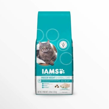 IAMS ProActive Health Adult Indoor Weight & Hairball Care with Chicken Dry Cat Food 2.9lb