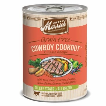 Merrick Grain Free Cowboy Cookout Classic Recipe Wet Dog Food 13oz