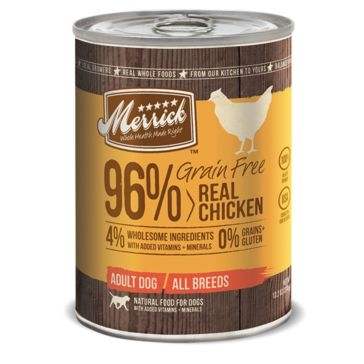 Merrick Grain Free 96% Real Chicken Wet Dog Food 13oz