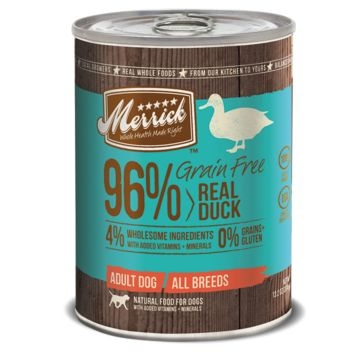 Merrick Grain Free 96% Real Duck Wet Dog Food 13oz