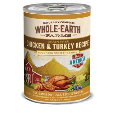 Whole Earth Farms Grain Free Chicken & Turkey Recipe Wet Dog Food 12.7oz