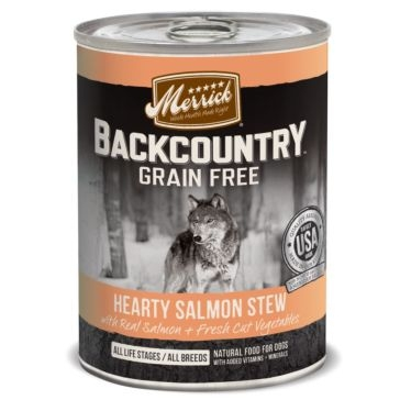 Merrick Backcountry Hearty Salmon Stew Wet Dog Food 12.7oz