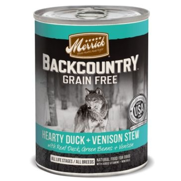 Merrick Backcountry Hearty Duck & Venison Stew Wet Dog Food 12.7oz