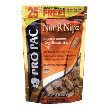 Pro Pac Nut-R-Nipz Peanut Butter Dog Treats 32oz