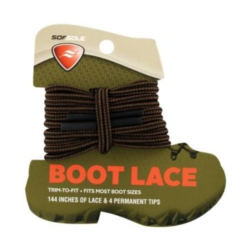 """Sof Sole 144"""" Trim-To-Fit Brown/Black Boot Lace"""