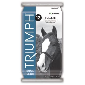 Nutrena Triumph 12% Pelleted Horse Feed 50lb