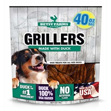 Betsy Farms Duck Grillers Dog Treats 40 OZ.