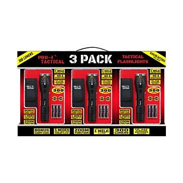 Pro- 4 Tactical Flashlight 3 Pack