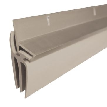 "Dennis 36"" Grey Aluminum Triple-Flanged Vinyl Door Sweep"