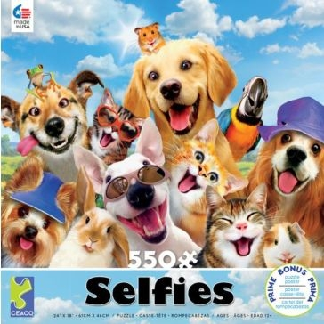 Ceaco Selfies 550 Piece Puzzle - Assorted