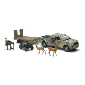 New Ray Toys USA Wild Hunting Playset With Boat or ATV Assorted
