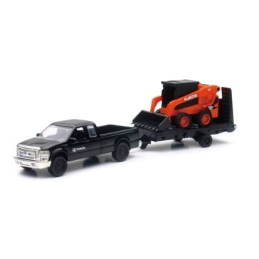 New Ray Toys USA Kubota Die Cast Skid Steer with Truck