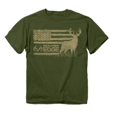 Buck Wear Realtree Edge Buck Flag Tee