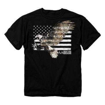 Buck Wear Realtree Edge Camo Eagle Flag Tee