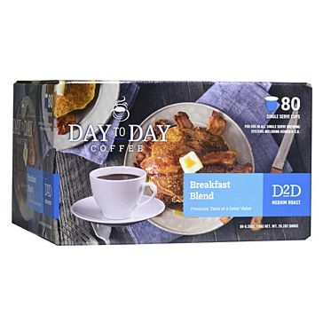 Day to Day 80 K-Cups Breakfast Blend Single Serve Coffee