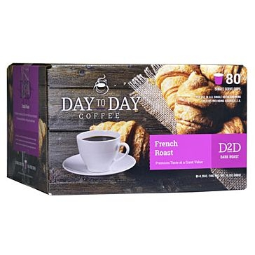 Day to Day 80 K-Cups French Roast Single Serve Coffee