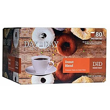 Day to Day 80 K-Cups Donut Blend Single Serve Coffee