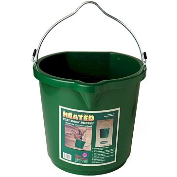 Farm Innovators 6 Gallon Heated Flat Back Bucket