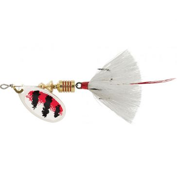 Mepps Dressed Treble Aglia Lure 1/6oz Silver/Red/White Blade w/White Tail