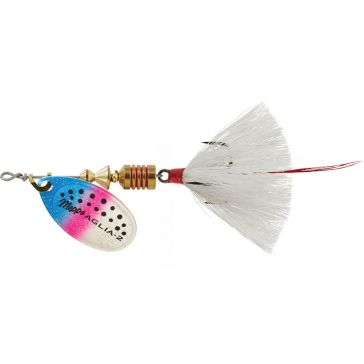 Mepps Dressed Treble Aglia Lure 1/6oz Rainbow Trout Blade w/White Tail