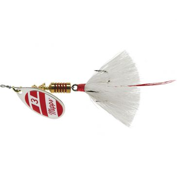 Mepps Dressed Treble Aglia Lure 1/4oz Silver/Red/White Blade w/White Tail