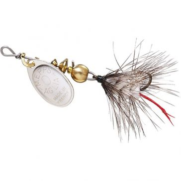 Mepps Aglia Wooly Worm Lure 1/12oz Silver Blade w/White Tail