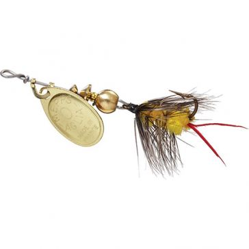 Mepps Aglia Wooly Worm Lure 1/12oz Gold Blade w/Yellow Tail