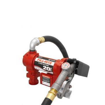 FILL-RITE 12V DC High-Flow Fuel Pump w/Hose & Manual Nozzle FR4210G