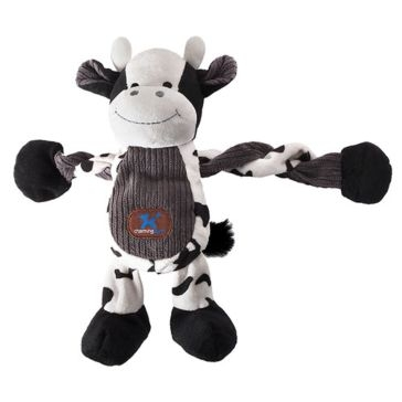 Farm Pulleez Cow Squeaker Dog Toy