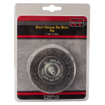 "K-T Industries 3"" Circular Fine End Brush 5-3371"