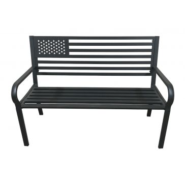 Backyard Expression American Flag Bench