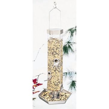 North States Silver Series Combo Birdfeeder With Tray