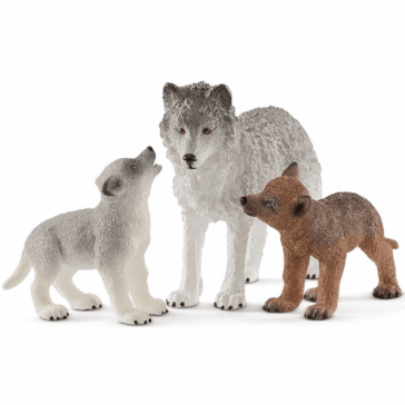 Schleich Mother Wolf with Pups 42472